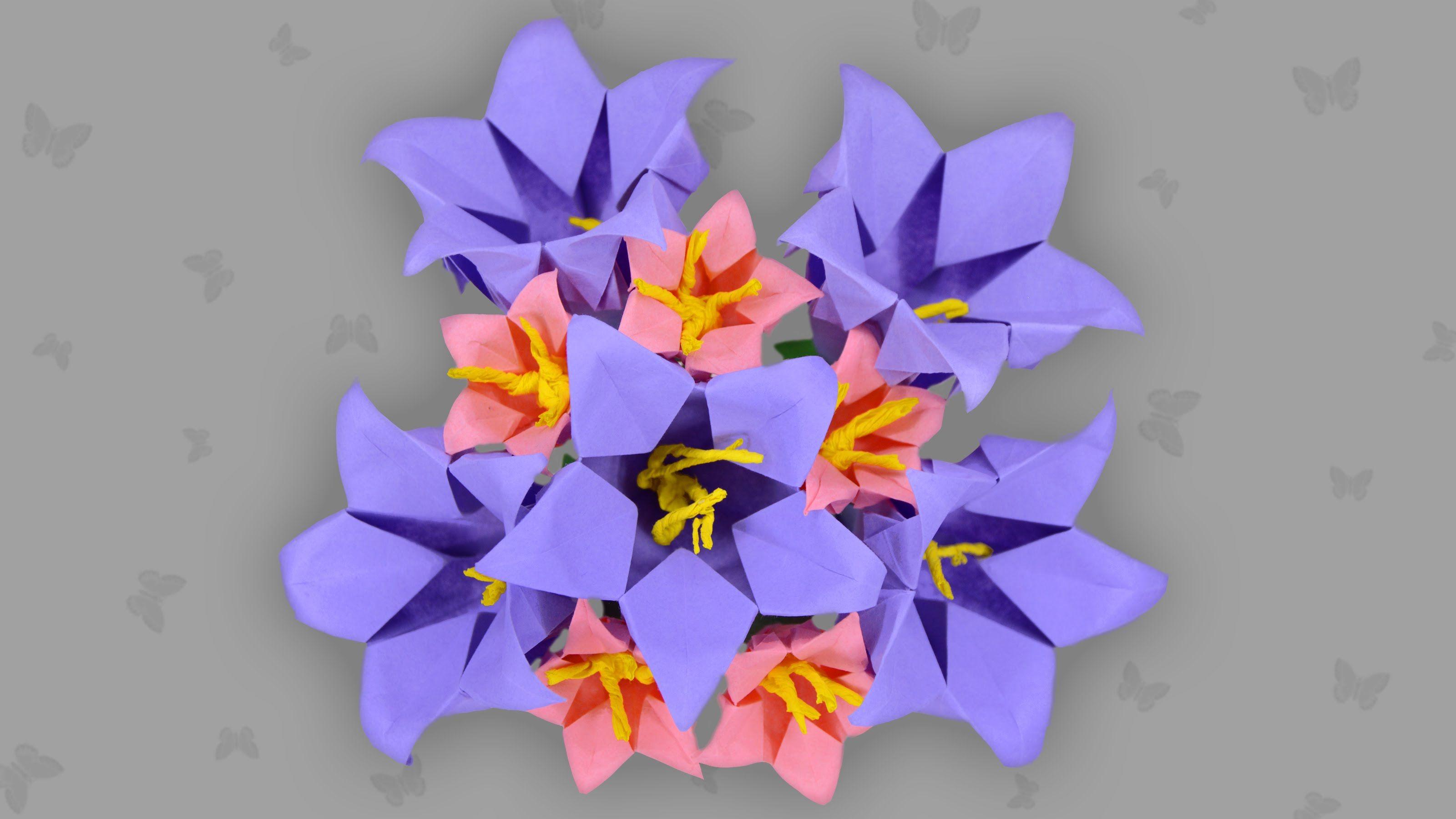 Die Origami Glockenblume Ist Ein Mittelschweres Motiv Mit Dem Es