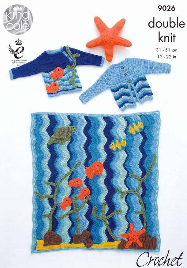 Under the Sea Blanket and Starfish Toy Kit with Free Pattern ...