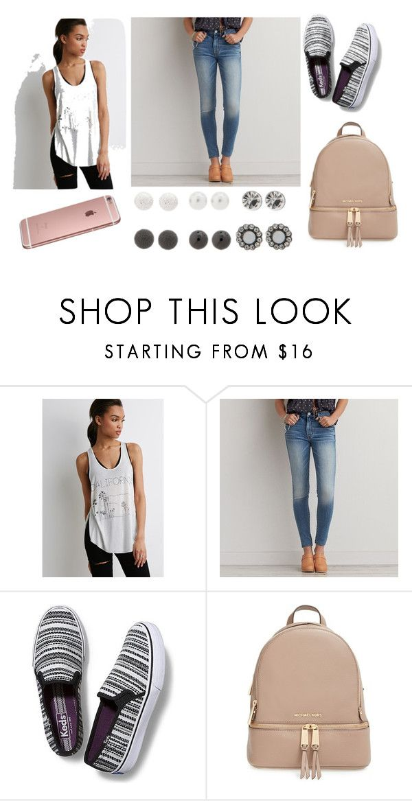 """Untitled #214"" by alliewulf ❤ liked on Polyvore featuring Forever 21, American Eagle Outfitters, Keds, MICHAEL Michael Kors, claire's, women's clothing, women, female, woman and misses"