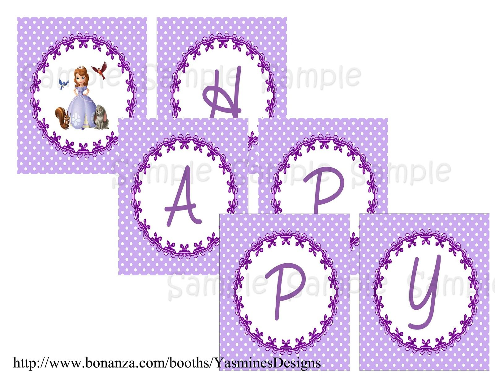 Sofia The First Birthday Banner Printable Free Printable Birthday Banner Free Printable Banner First Birthday Banners