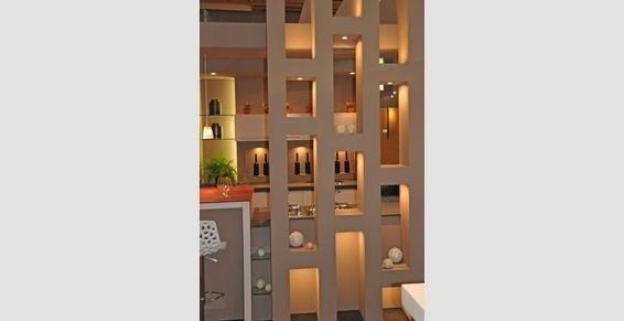 Séparation cuisine, salle à manger, niches décoratives Lille Cuisine
