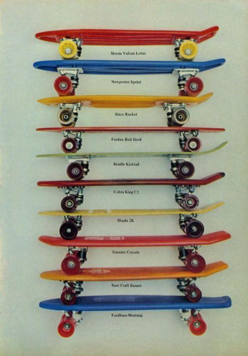 vintage cool skateboards... Old Skateboards are cool