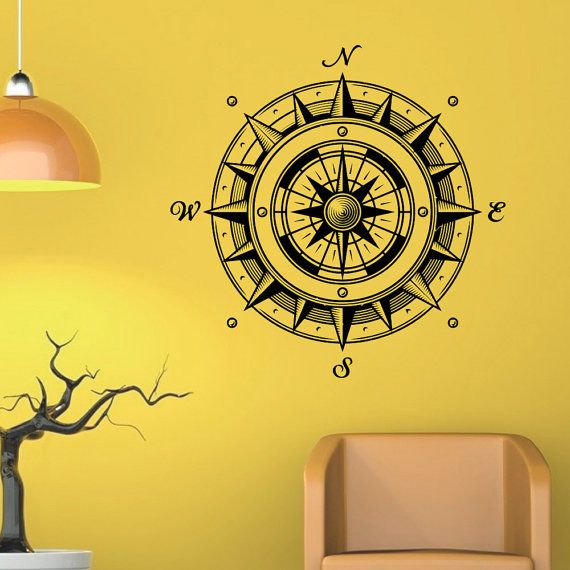 Beautiful Compass Rose Wall Decor Pattern - Wall Art Design ...