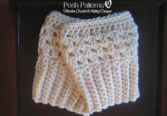 Free Crochet Boot Cuffs Pattern #bootcuffs