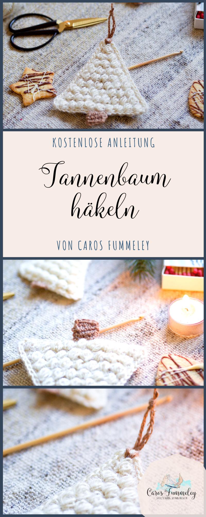 Tannenbaum häkeln - Freebie #adventskranzideenkinder