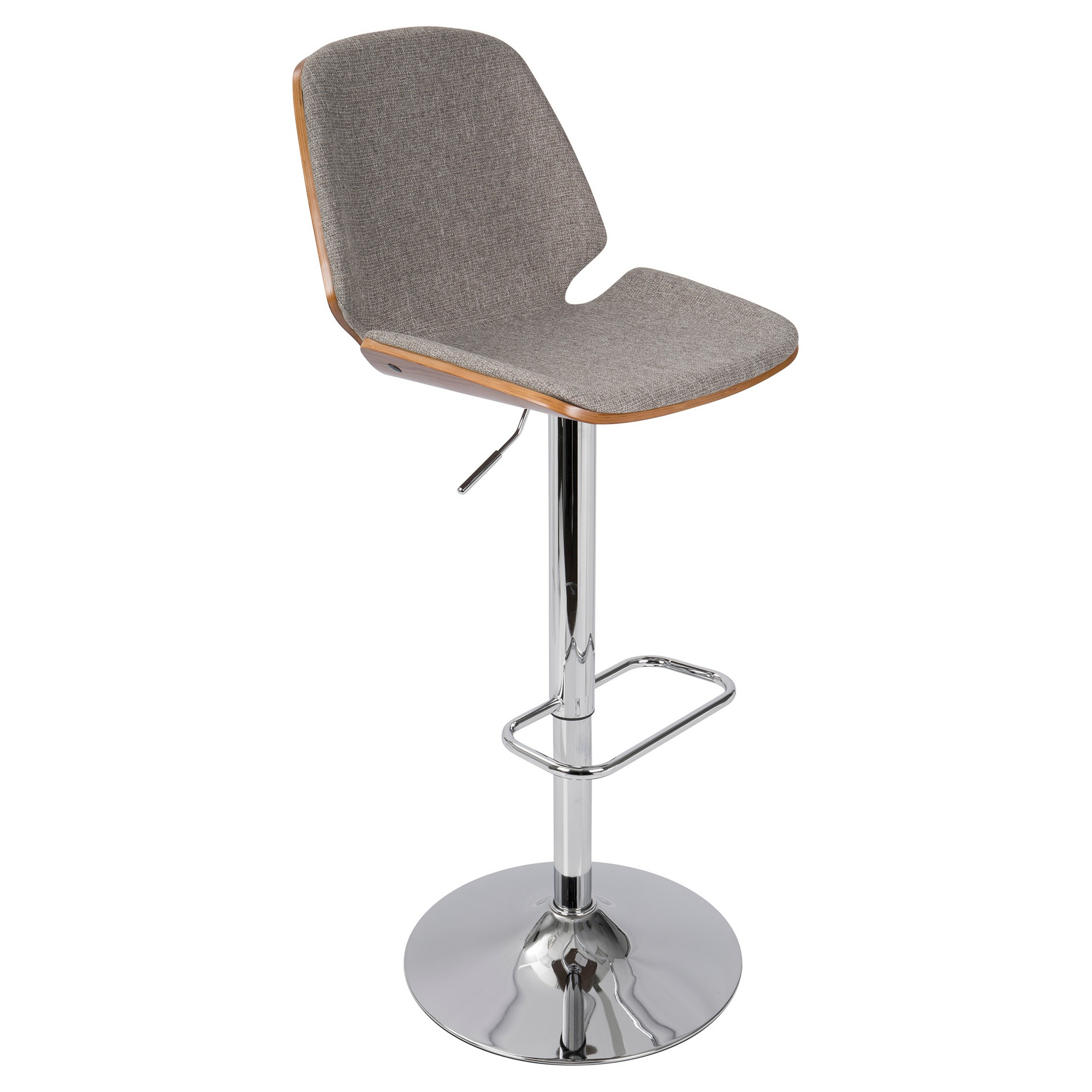 Tremendous Serena Mid Century Modern Adjustable Barstool Gray Forskolin Free Trial Chair Design Images Forskolin Free Trialorg