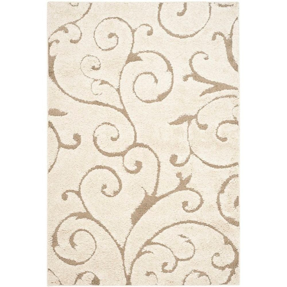 Safavieh Florida Shag Cream Beige 10 Ft X 13 Ft Area Rug Sg455