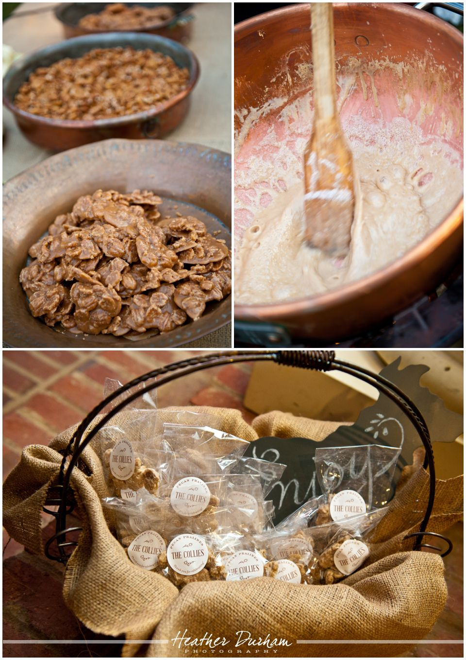 Arrington Clay Homemade Pralines Southern Wedding Reception Food