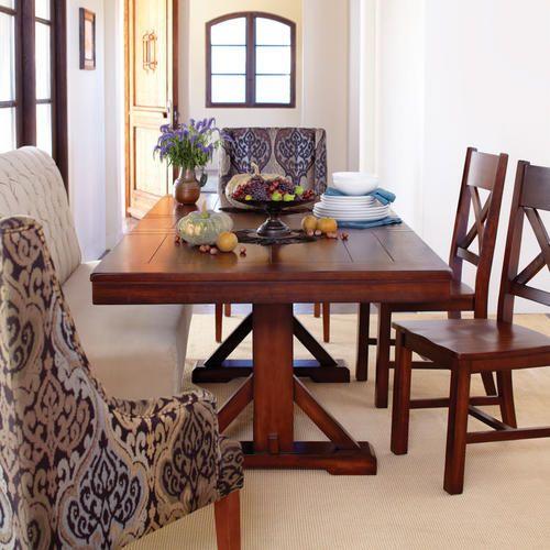Mahogany Verona Trestle Table