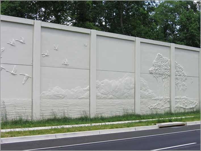 sound barrier walls traffic highway