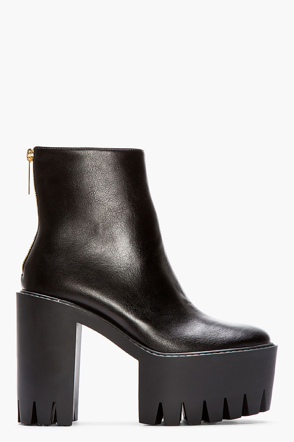 Stella McCartney Studded Round-Toe Ankle Boots