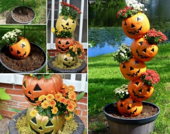Tipsy Pumpkin Planter Is A Super Easy DIY Planters, Craft and - how to make pumpkin decorations for halloween