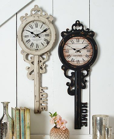 Vintage Inspired Key Wall Clocks Antique Frames Vintage Wall Clock Unique Wall Decor