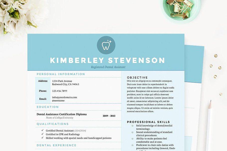 Crisp blue resume template pkg in 2020 resume template