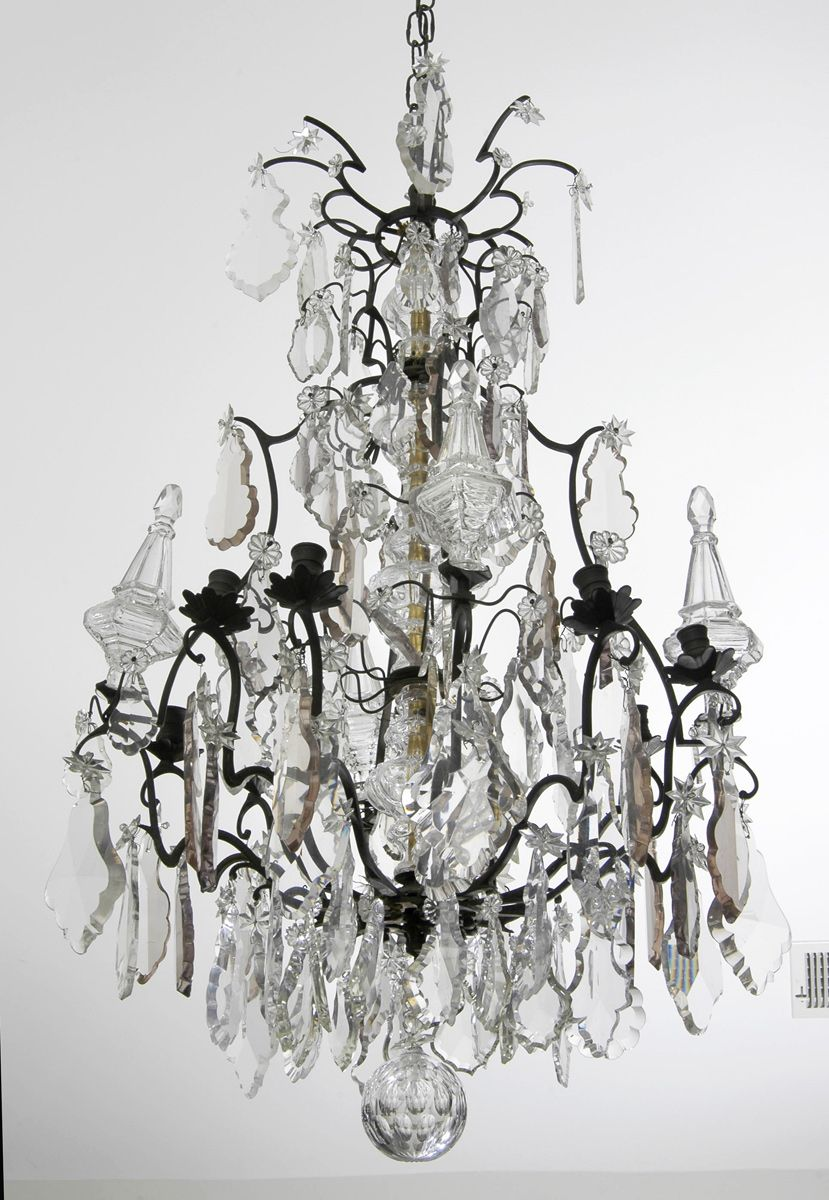 Very large antique french louis xv style crystal and bronze very large antique french louis xv style crystal and bronze chandelier impressive chandelier with bronze arubaitofo Image collections