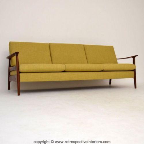 Danish Retro Newly Upholstered Sofa Bed Vintage 1950 S Sofa Bed Sale Danish Sofa Sofa Bed Uk