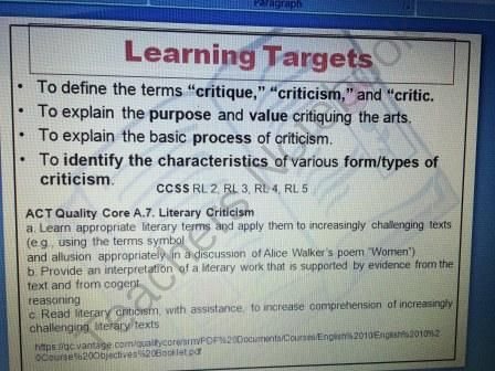 Literary Criticism - Critiquing Literature and the Arts PowerPoint from The Teacher's Book Bag on TeachersNotebook.com - (29 pages) - Literary Criticism PowerPoint Instructional: Include several types of literary criticism including archetypal, biographical, and psychological.