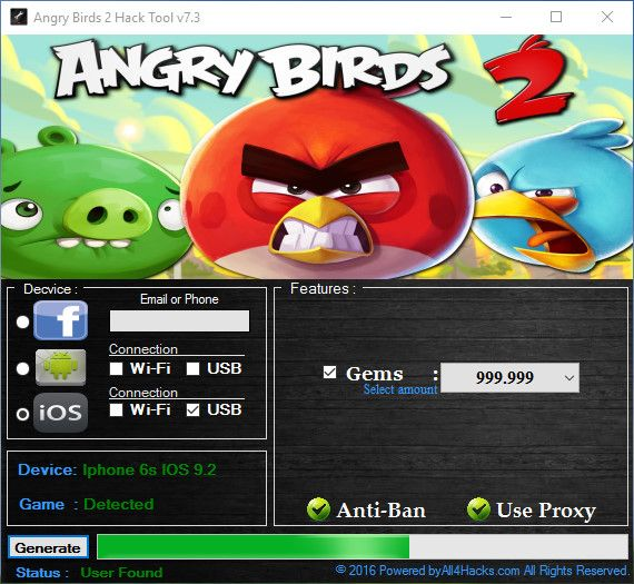 angry birds 2 hack android 2018