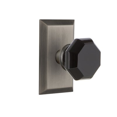 Nostalgic Warehouse Waldorf Door Knob With Studio Plate Finish: Antique  Pewter, Knob Function: