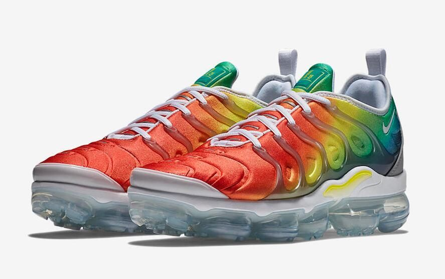 bf4b4bb2afd0 Nike Air VaporMax Plus Color  White Neptune Green-Dynamic Yellow-Blue  Nebula-Habanero Red Style Code  924453-103 Release Date  April 26
