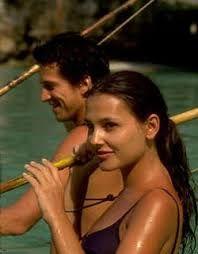 Virginie Ledoyen on the set of The Beach (2000) starring