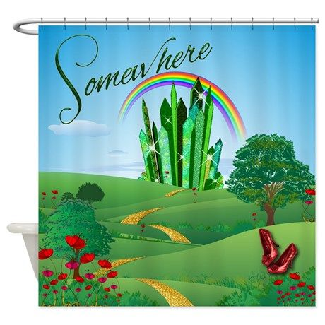 Wizard Of Oz Emerald City Shower Curtain By Getyergoat