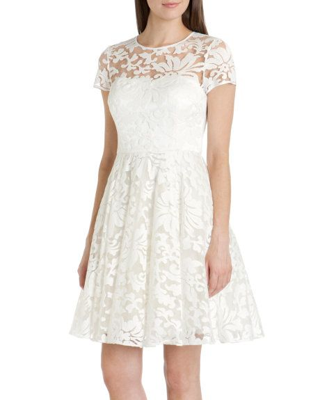 Sheer floral dress - White | Dresses | Ted Baker ROW