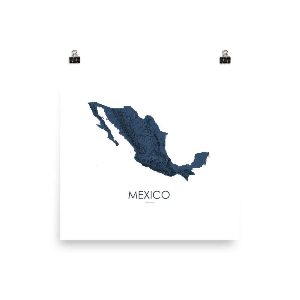 Mexico Poster 3D Midnight Blue