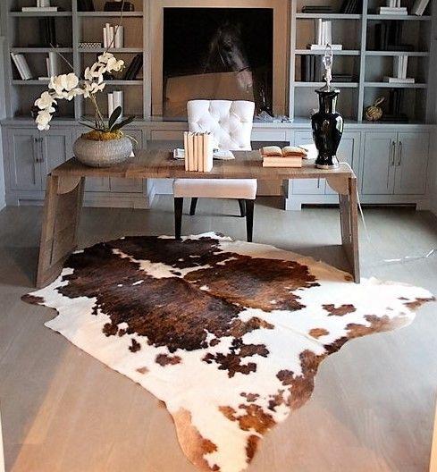 Cowhide Rugs Tri Color Cow Skin