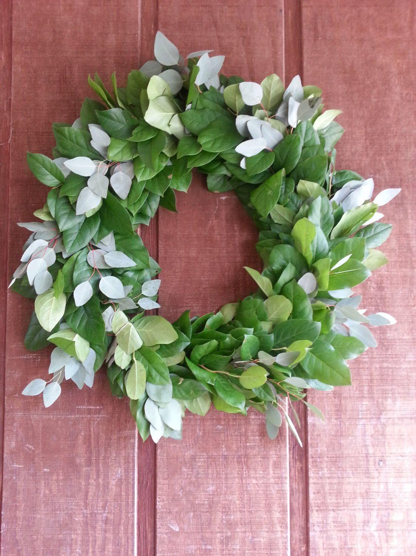 Photo of Salal and silver dollar eucalyptus wreath