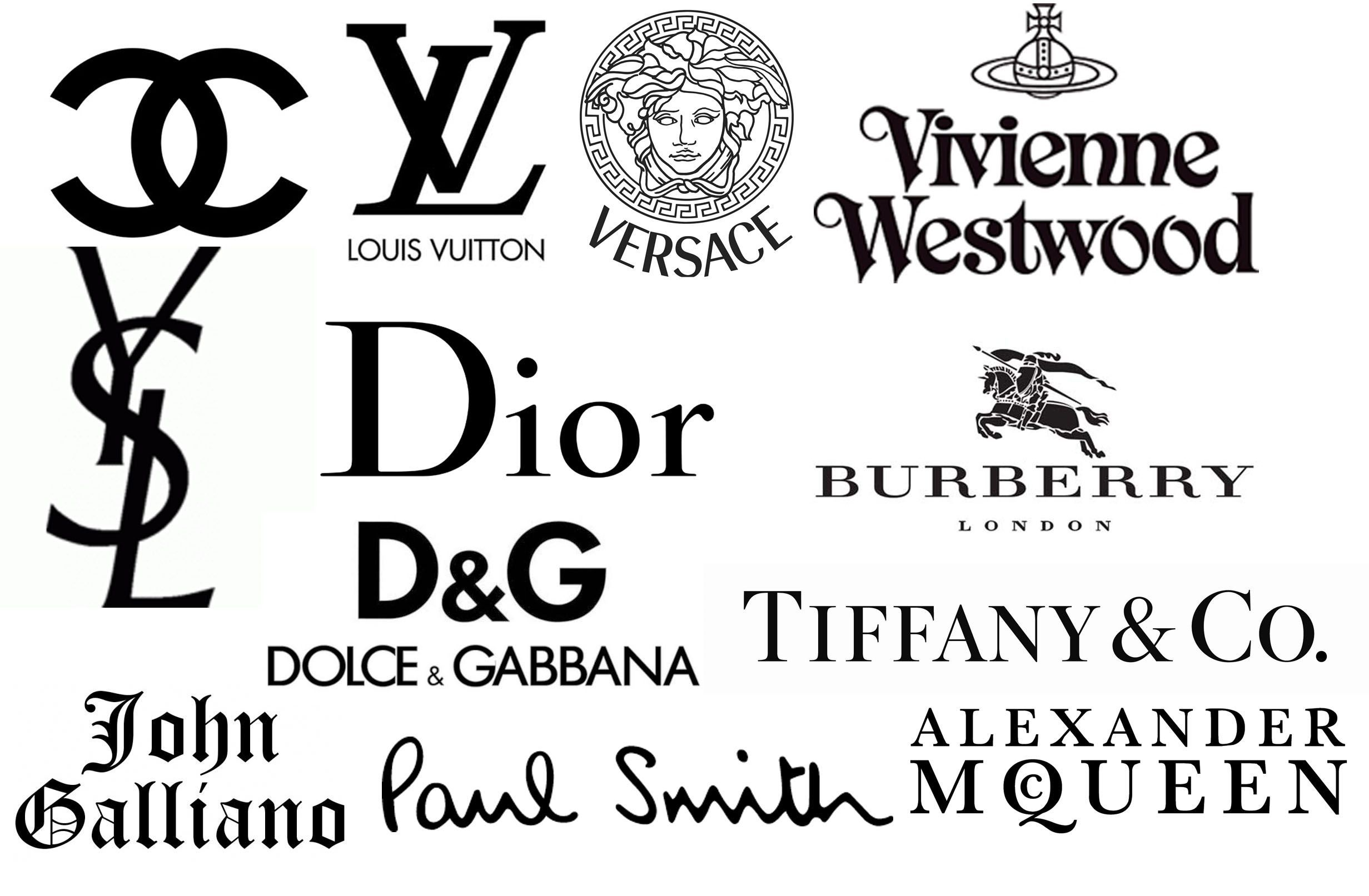 Image result for high fashion logos Luxury brands