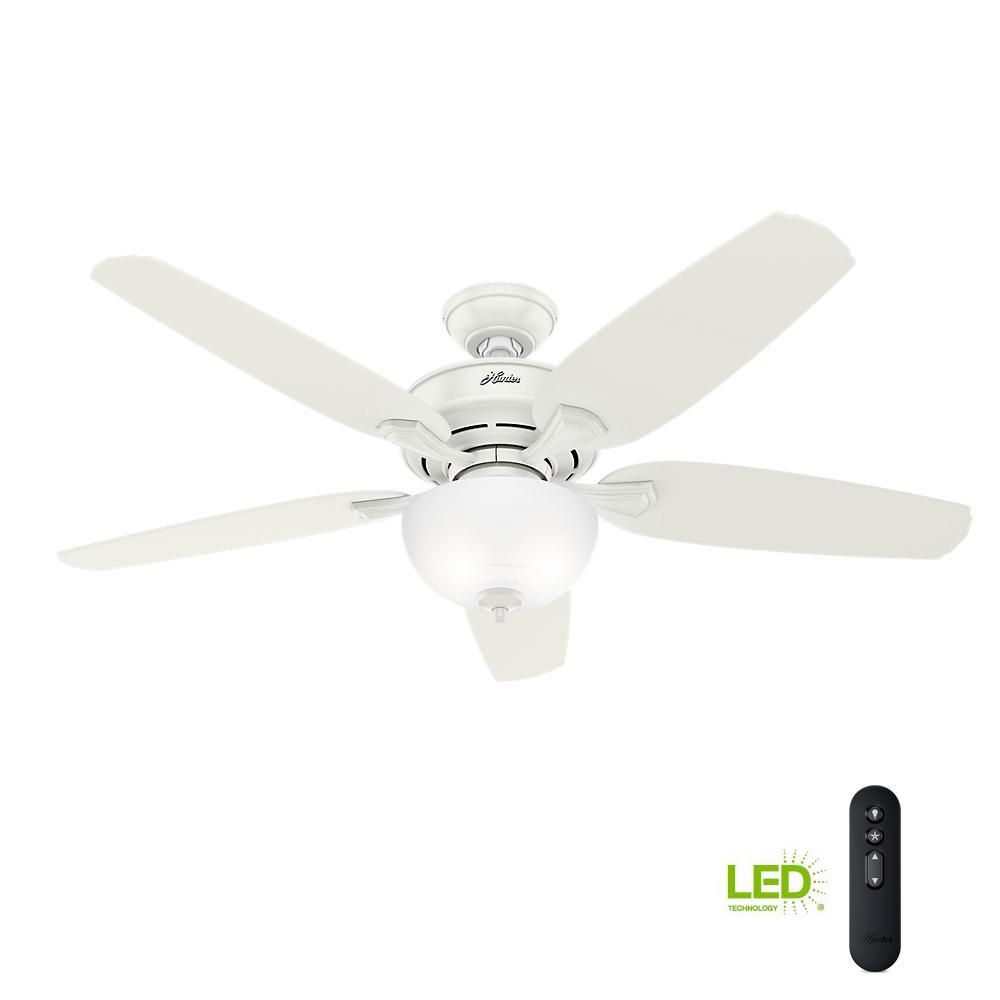 Hunter Channing 54 In Led Indoor Easy Install Fresh White Ceiling