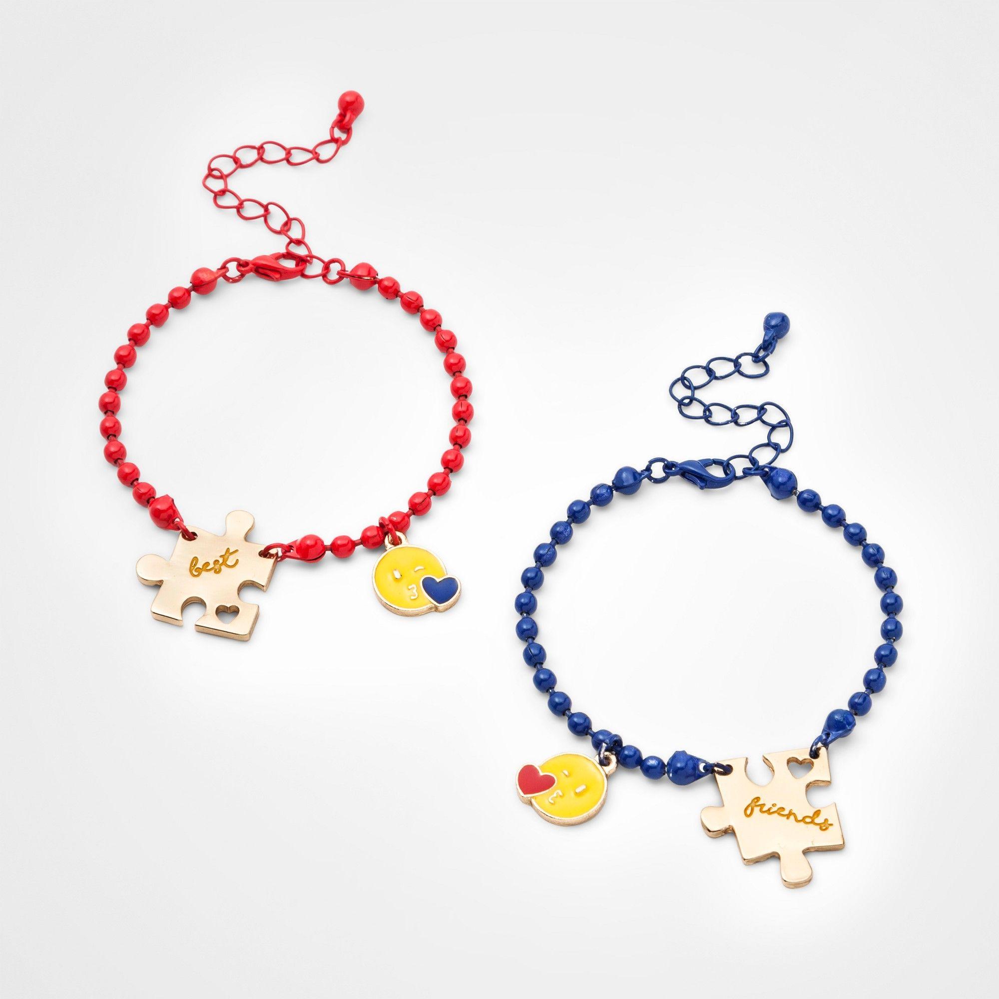 Girlsu pk puzzle bff bracelet cat u jack one size multicolored
