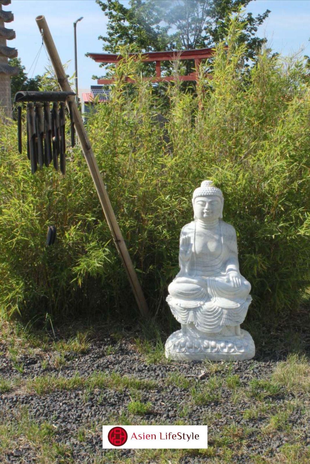 Garten Buddha Statue Marmorstein 100cm In 2020 Statue Buddha Figur Buddha