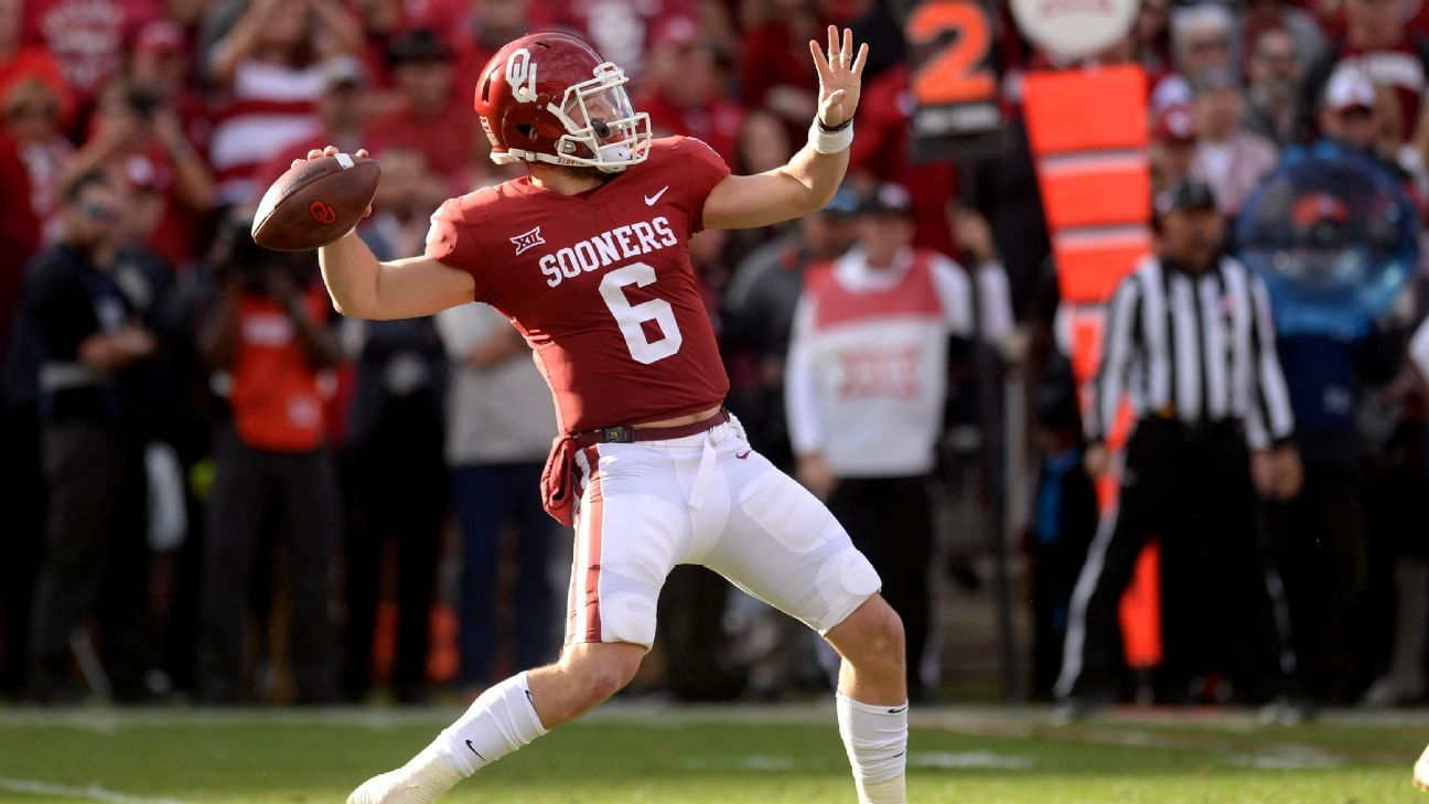 After twoplay suspension, Baker Mayfield comes off bench