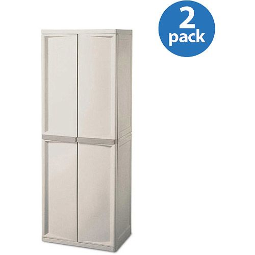 sterilite 4 shelf utility storage cabinet putty 2 pack storage rh pinterest com