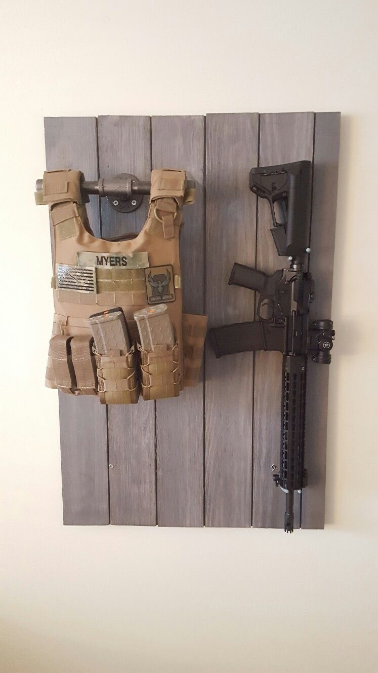 Simple Gun And Vest Storage Armoury Tactical