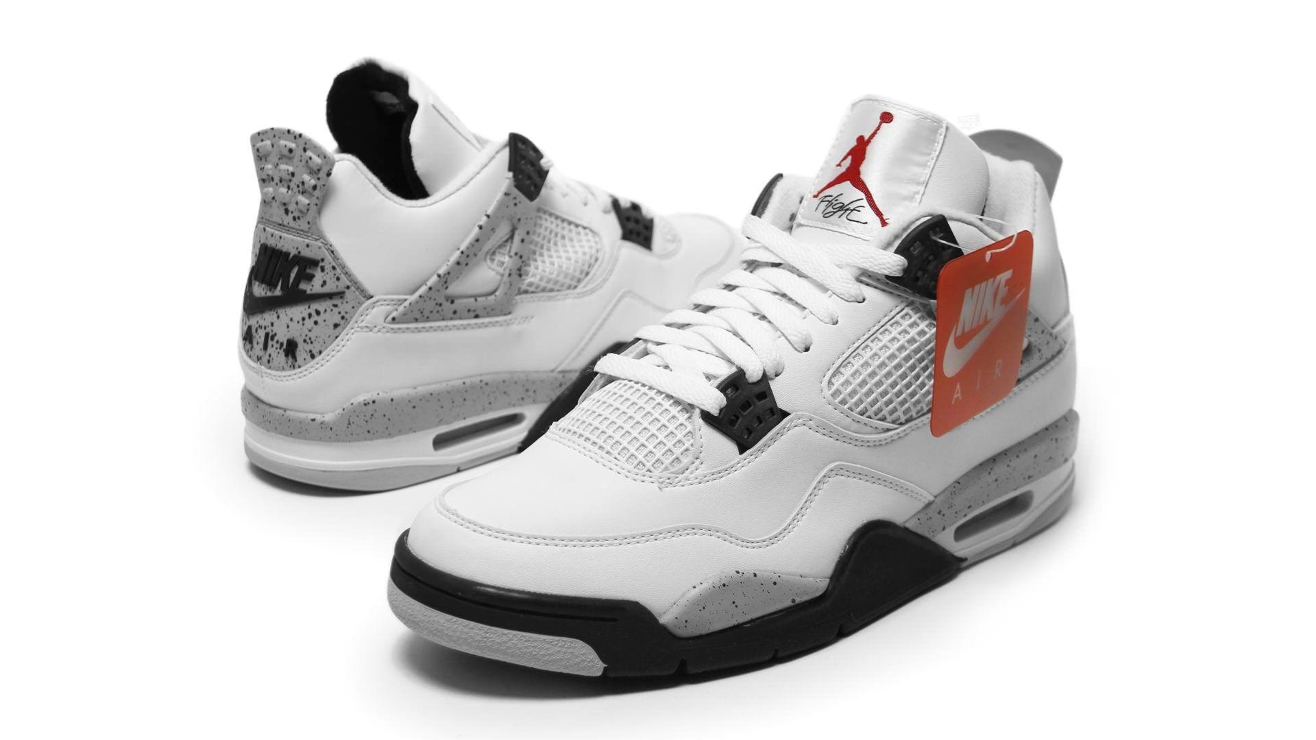 Weekly Wallpaper: Air Jordan 4 White/Cement For years, Jordan heads have  clamored to get the Air Jordan 4 back in its OG \u201cCookies and Cream\u201d  colorway.