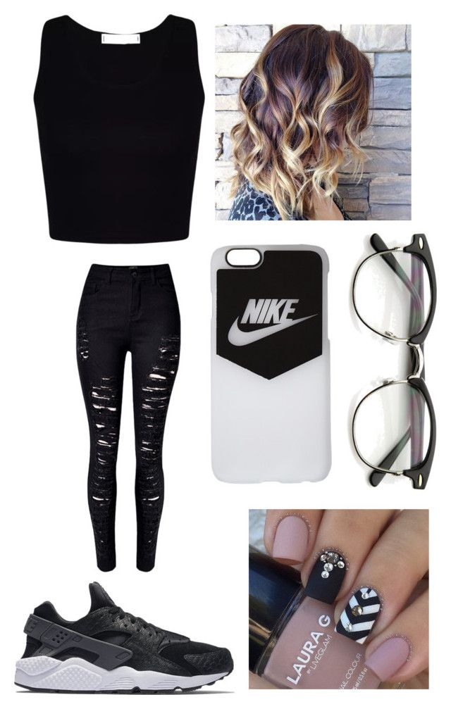 """☀️"" by raventene ❤ liked on Polyvore featuring WithChic and NIKE"