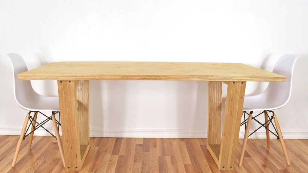 Making High End Furniture From Plywood Diy Modern Dining