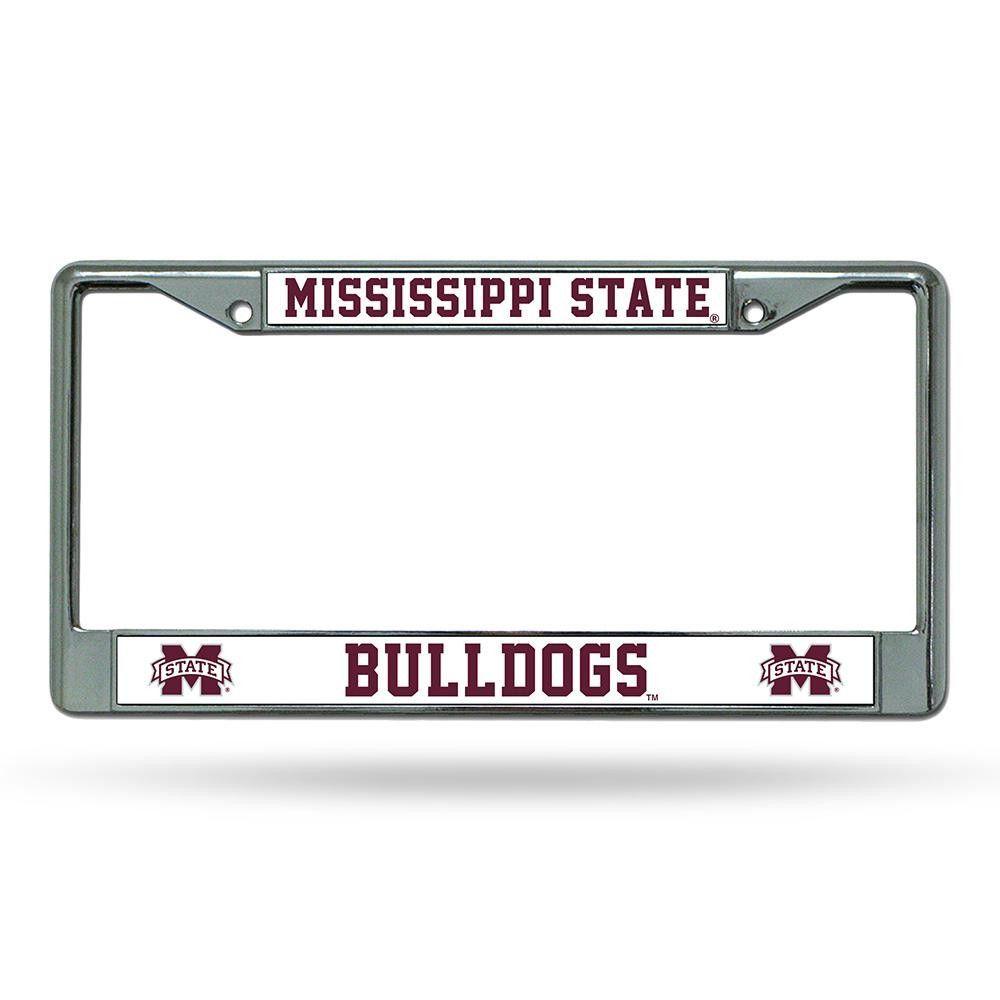 Mississippi St Bulldogs License Plate Frame Chrome Deluxe