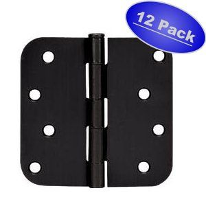 Cosmas Flat Black Door Hinge 4 Inch X 4 Inch With 5 8 Moulding Black Door Hinges Black Doors Door Hinges