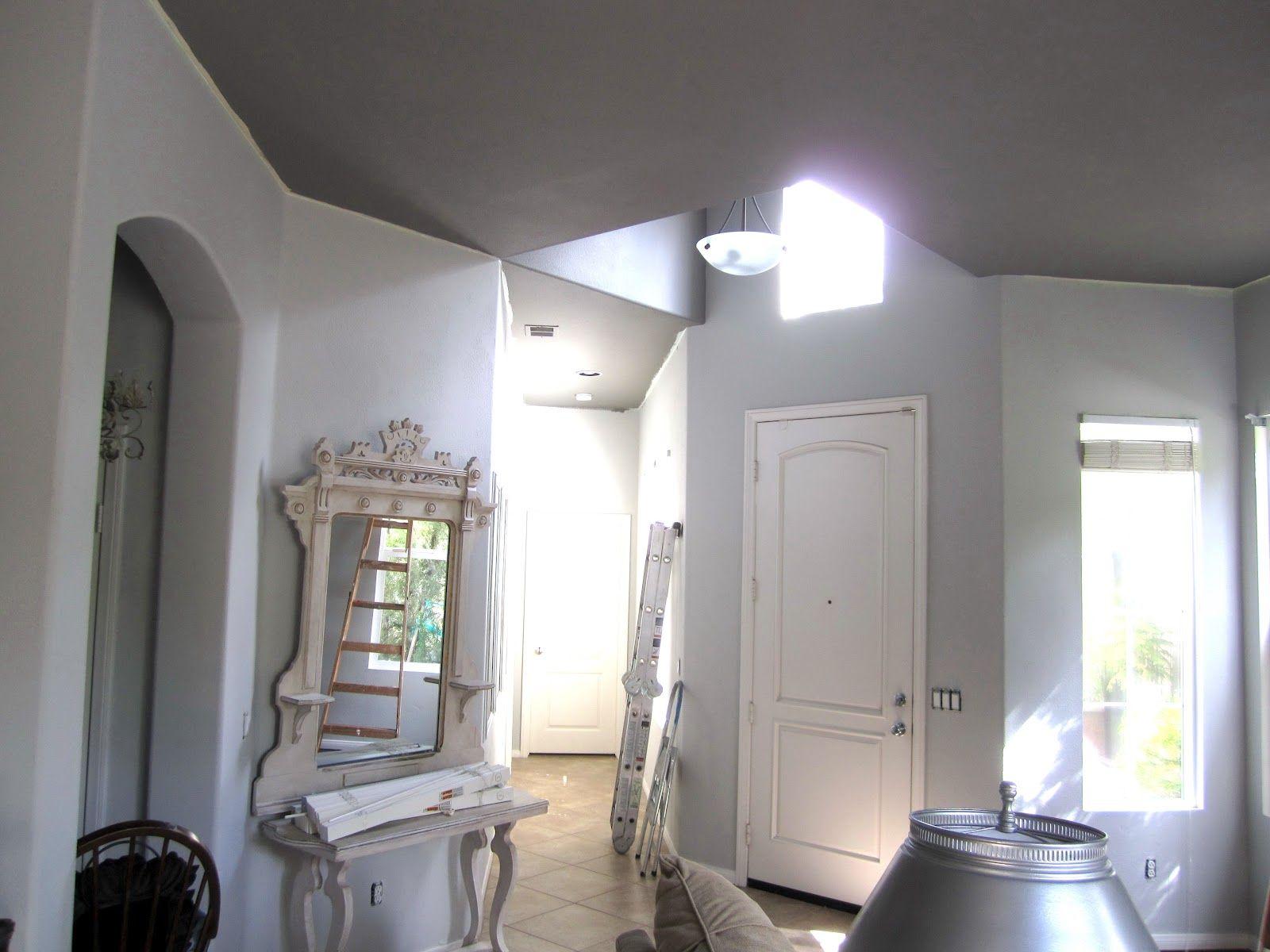 stonington gray walls and chelsea gray ceiling. love the combo