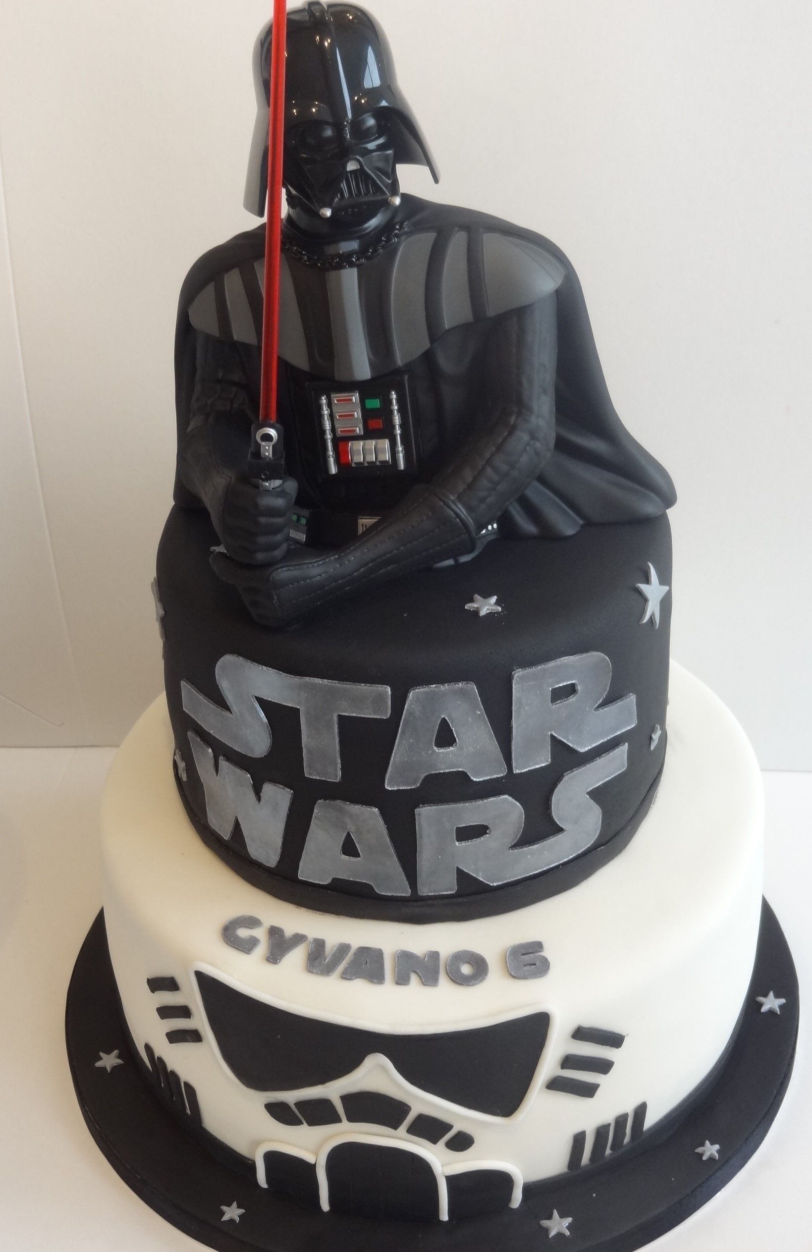 Fabulous Star Wars Cake For Gyvano Darth Vader With Images Star Wars Birthday Cards Printable Trancafe Filternl