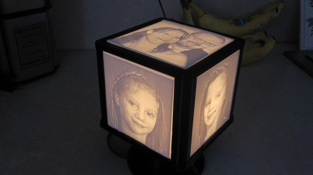 Rotating Lithophane Box By Jim248 Thingiverse Paper Lamp Novelty Lamp Tool Design