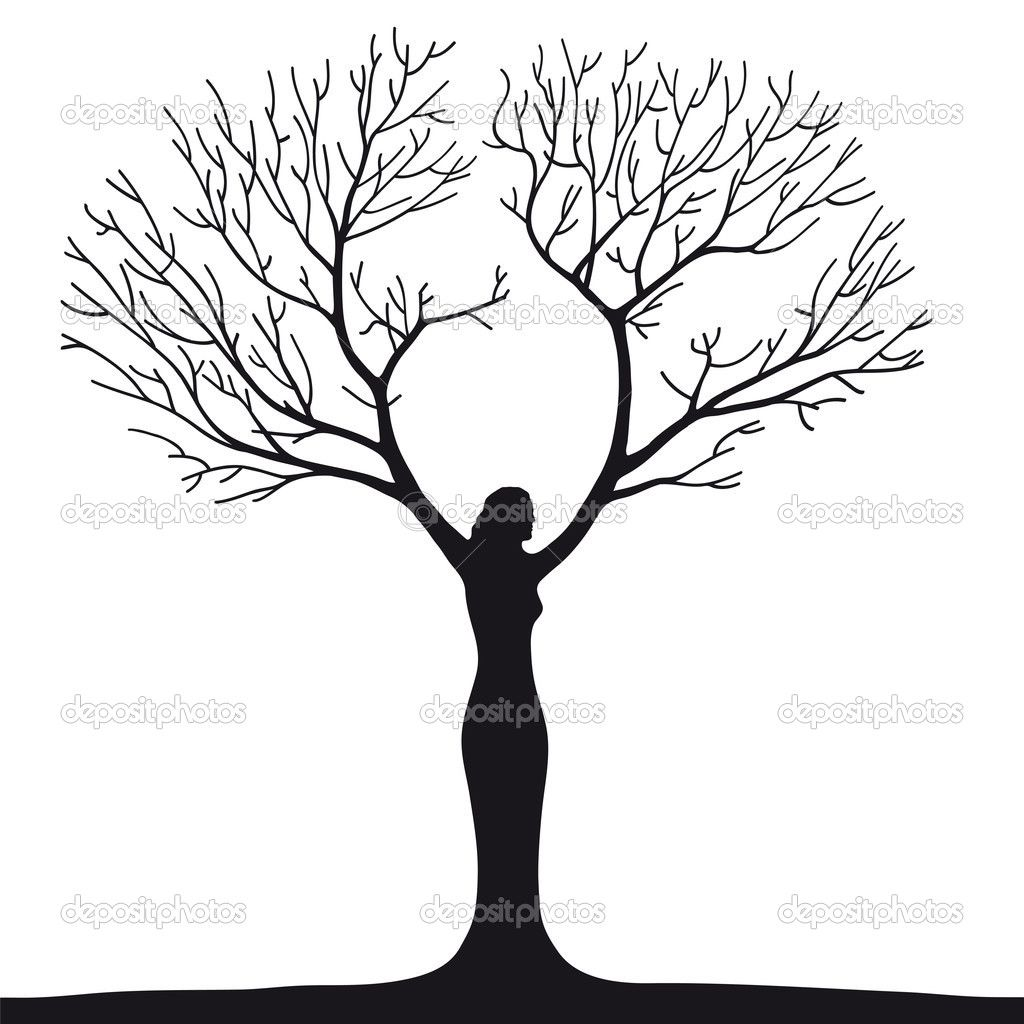 Female Silhouette Tree Of Life