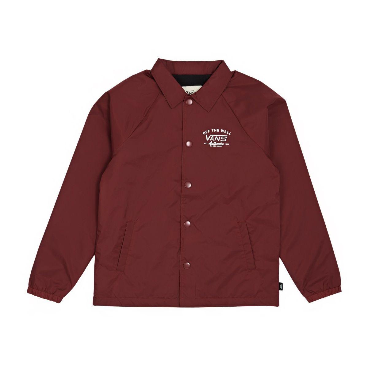 Vans Jackets - Vans Torrey Boy's Coach Jacket - Red Dahlia