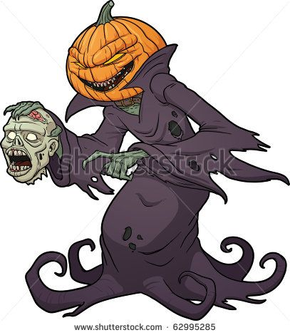 Scary halloween pumpkin head jack lantern at yellow hat made from plasticine on white background. Scary Pumpkin Cartoon Scary Halloween Pumpkin Monster Holding A Severed Zombie Head Vector Scary Halloween Pumpkins Funny Monsters Illustration Art