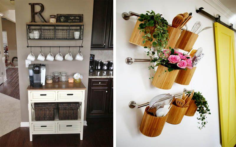 20 DIY Ideen für kleine Küche Organisation