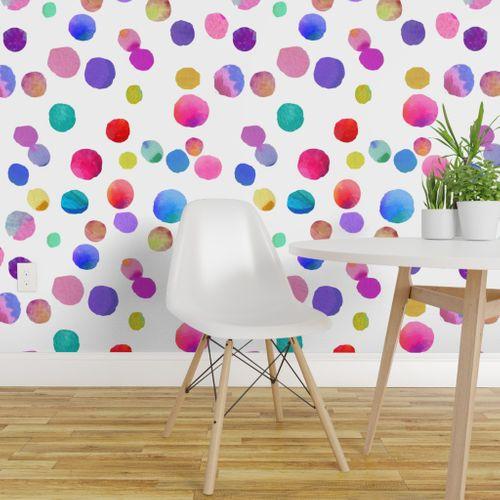 Little Drops Of Love In 2021 Polka Dots Wallpaper Dots Wallpaper Removable Wallpaper